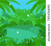 jungle flat background18 | Shutterstock . vector #785456890