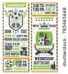sport game ticket for soccer... | Shutterstock .eps vector #785465668