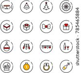 line vector icon set   cafe... | Shutterstock .eps vector #785465884