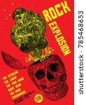 rock poster template | Shutterstock .eps vector #785468653