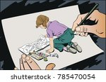 stock illustration. people in...   Shutterstock .eps vector #785470054