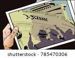 stock illustration. people in... | Shutterstock .eps vector #785470306