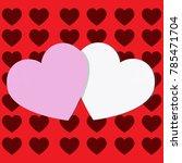 decorative valentine background ... | Shutterstock .eps vector #785471704