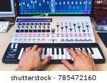 male musician hands playing... | Shutterstock . vector #785472160