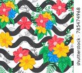 flower seamless pattern  flower ... | Shutterstock .eps vector #785474968