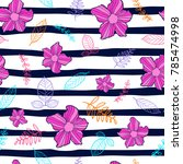 flower seamless pattern  flower ... | Shutterstock .eps vector #785474998