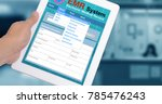 medical record system show on... | Shutterstock . vector #785476243