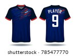 soccer jersey template.blue and ...   Shutterstock .eps vector #785477770