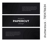 black paper cut background.... | Shutterstock .eps vector #785478634