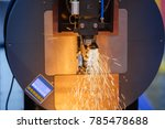 cnc lathe machine for industry. ... | Shutterstock . vector #785478688