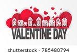 art valentine day paper cut... | Shutterstock .eps vector #785480794