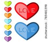 vector illustration template... | Shutterstock .eps vector #785481598