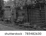 black and white theme of bench... | Shutterstock . vector #785482630