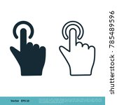 finger pointer icon vector logo ... | Shutterstock .eps vector #785489596
