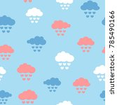 clouds with rain drops in the... | Shutterstock .eps vector #785490166