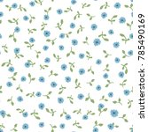 cute floral seamless pattern.... | Shutterstock .eps vector #785490169