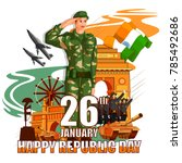 vector illustration of indian... | Shutterstock .eps vector #785492686