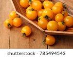 yellow cherry tomatoes. | Shutterstock . vector #785494543