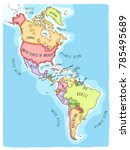 hand drawn vector map of the... | Shutterstock .eps vector #785495689