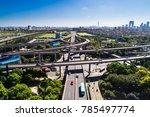 aerial view massive highway... | Shutterstock . vector #785497774