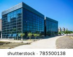 modern office building with... | Shutterstock . vector #785500138