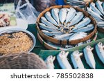 many steamed fish in wooden... | Shutterstock . vector #785502838