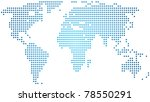 vector abstract world map | Shutterstock .eps vector #78550291