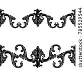 vintage baroque seamless... | Shutterstock .eps vector #785529544