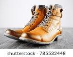 yellow shoes. fashion men's...   Shutterstock . vector #785532448