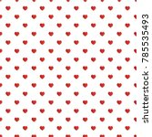 Red Heart On White Background...