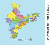 colorful map of india with... | Shutterstock .eps vector #785535610