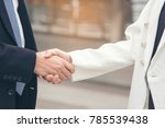 trust promise concept. honest... | Shutterstock . vector #785539438