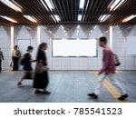 mock up banner signage display...   Shutterstock . vector #785541523