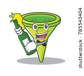 with beer funnel character... | Shutterstock .eps vector #785543404