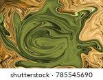 picture liquid golden metal...   Shutterstock . vector #785545690