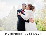 romantic lovely newly married... | Shutterstock . vector #785547139