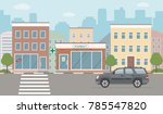 city life illustration with...   Shutterstock .eps vector #785547820
