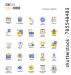 set of flat line smooth... | Shutterstock .eps vector #785548483