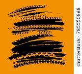 tire tracks print texture.... | Shutterstock .eps vector #785550868