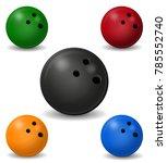 bowling ball illustration... | Shutterstock . vector #785552740