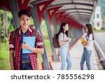 portrait of young asian boy...   Shutterstock . vector #785556298