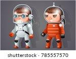 astronaut cosmonaut spaceman... | Shutterstock .eps vector #785557570