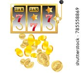 casino. golden slot machine... | Shutterstock .eps vector #785558869
