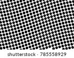 abstract monochrome halftone... | Shutterstock .eps vector #785558929