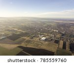 aerial photo of village and... | Shutterstock . vector #785559760