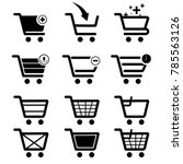 icon set add to cart shoping... | Shutterstock .eps vector #785563126