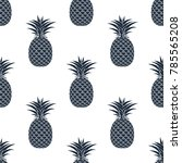 seamless pattern of black... | Shutterstock .eps vector #785565208