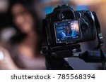 video recording. close up of... | Shutterstock . vector #785568394