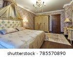 bedroom with a beautiful... | Shutterstock . vector #785570890
