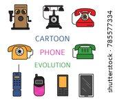 phone history. evolution. flat...   Shutterstock .eps vector #785577334